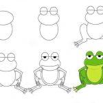 آموزش نقاشی قورباغه ، جوجه و شتر برای کودک