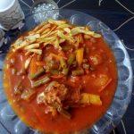 طرز تهیه خورش لوبیا سبز و هویج