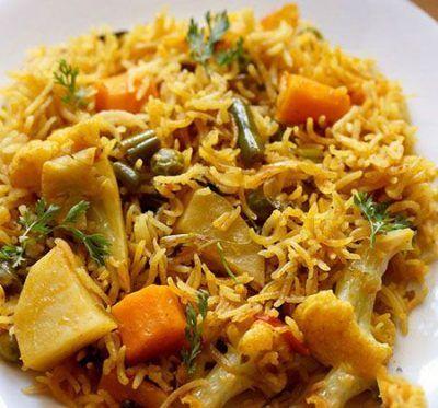 پلو سبزیجات هندی
