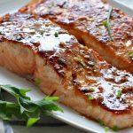 طرز تهیه ماهی سالمون با سس خردل عسلی