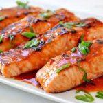 طرز تهیه کباب ماهی سالمون با سس جعفری