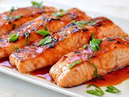 کباب ماهی سالمون با سس جعفری
