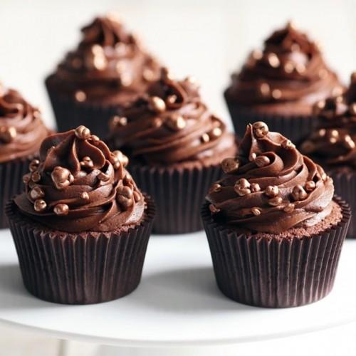 کاپ کیک کرم شکلاتی