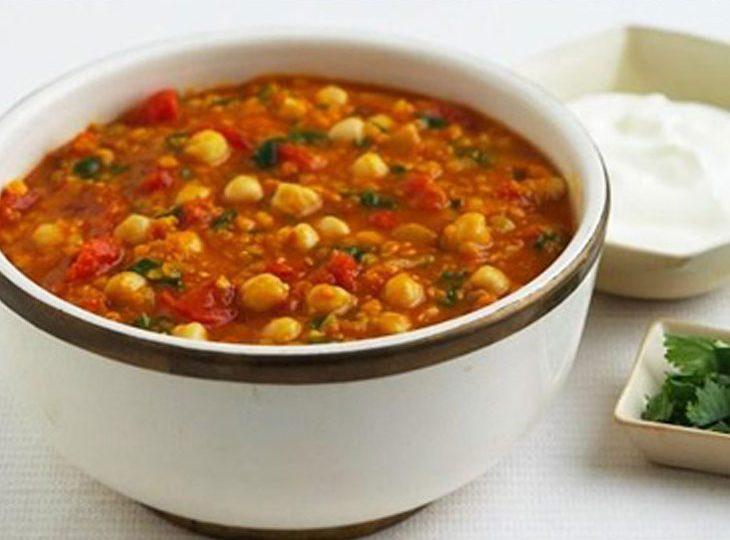خوراک نخود لبنانی