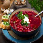 طرز تهیه سوپ برش روسی